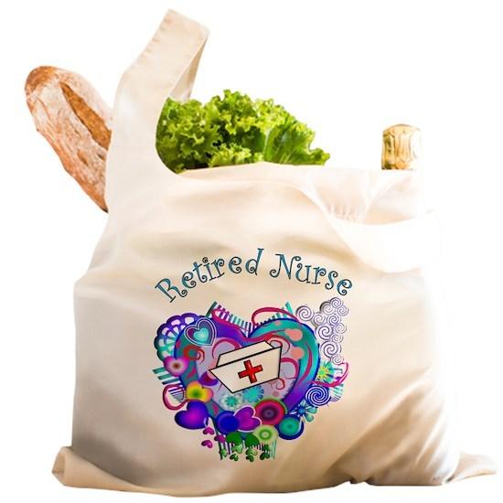 407451d19757 Retired Nurse Artsy Retro He Reusable Shopping Bag