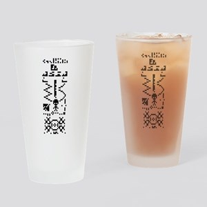 Arecibo Binary Message Answer Reply Drinking Glass
