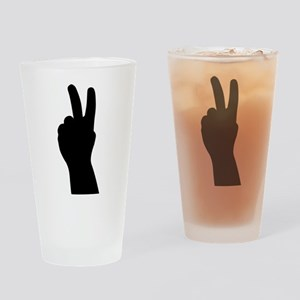 V Sign - Two Fingers Pint Glass