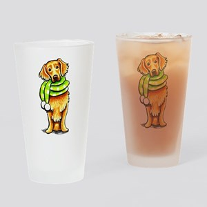 Golden Retriever Scarf Drinking Glass