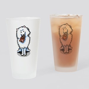 Eskie Samoyed Lover Pint Glass