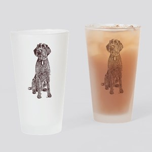 Wirehaired Pointing Griffon Drinking Glass