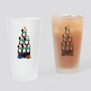 Bernese Mt Dog Xmas Tree Drinking Glass