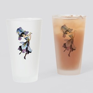 Iris Flower Fairy Drinking Glass