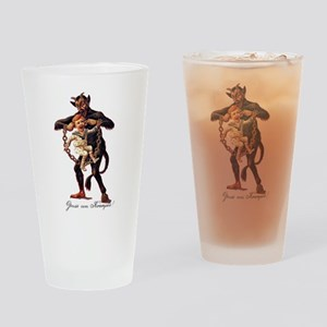 Gruss vom (Greetings From) Krampus Drinking Glass