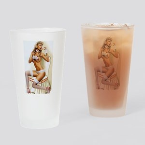 Sweet Pinup Drinking Glass