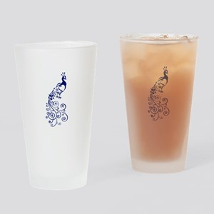 ONE COLOR PEACOCK Drinking Glass