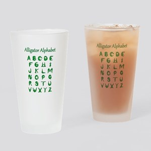 Alligator Alphabet Drinking Glass