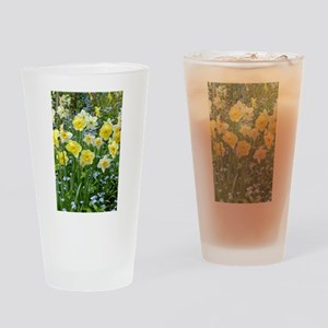 Yellow spring daffodils Drinking Glass