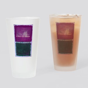 ROTHKO PURPLE GREEN LIGHT BLUE Drinking Glass