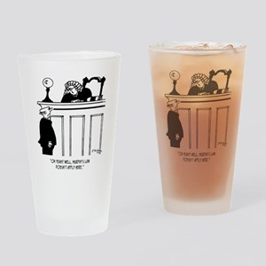 Judge Cartoon 4588 Drinking Glass
