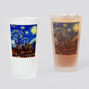 Starry Night Chicago Drinking Glass