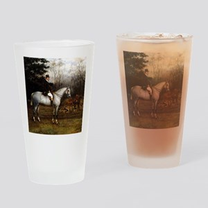 Gentleman on Grey Hunter Drinking Glass
