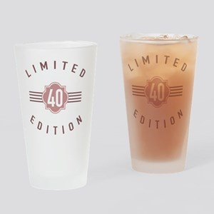 40th Birthday Limited Edition Drinking Glass