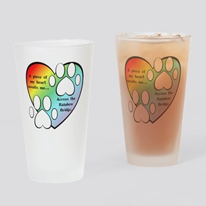 Rainbow Bridge Heart Drinking Glass