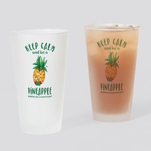 Keep Calm Pineapple Drinking Glass