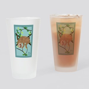Sleepy Sloth Drinking Glass