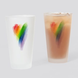 Rainbow Heart Pint Glass