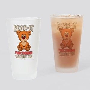 Funny Bear-ly Functioning Without Y Drinking Glass