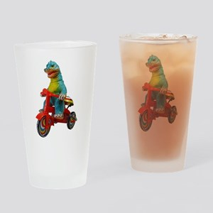 Scootzilla Drinking Glass