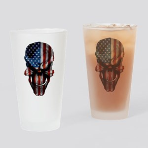 Flag & Skull Drinking Glass