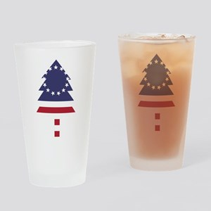 Betsy Ross Flag Pine Tree Drinking Glass