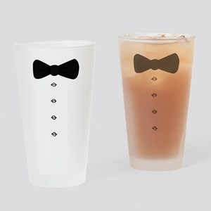 'Bow Tie Tux' Drinking Glass