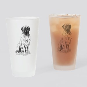 Mastiff Nobility Drinking Glass