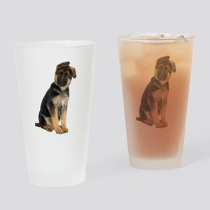 German Shepherd! Drinking Glass