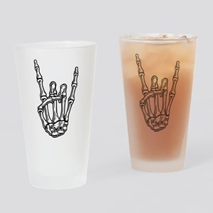 Bony Rock Hand Drinking Glass