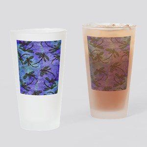 Dragonfly Flit Purple Haze Drinking Glass