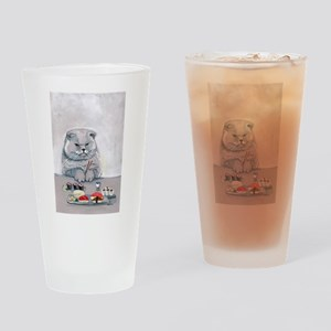 Sushi Cat- The Grump Drinking Glass
