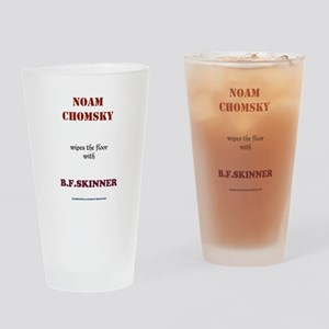 Chomsky VS. Skinner Drinking Glass