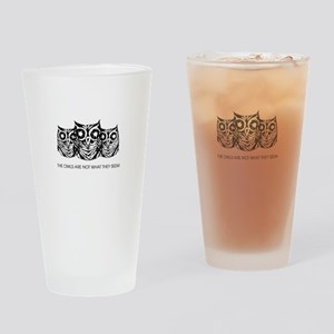 """The Owls..."" - Twin Peaks Drinking Glass"