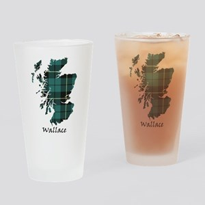 Map-Wallace hunting Drinking Glass