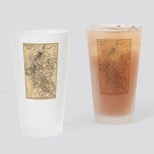Vintage Battle of Bull Run Map (188 Drinking Glass