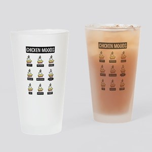 Chicken Moods Drinking Glass