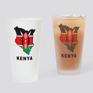 Map Of Kenya Pint Glass