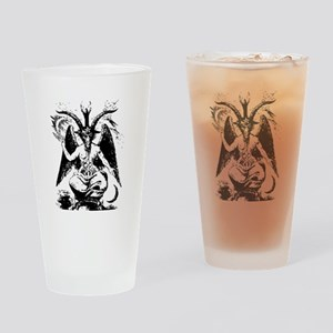 Vintage Black Baphomet Drinking Glass
