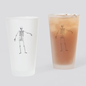 Full Frontal Skeleton Drinking Glass