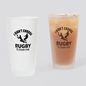 Rugby Choose Me Drinking Glass