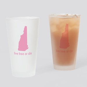 PINK Live Free or Die Drinking Glass
