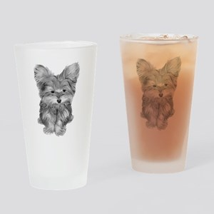 Yorkshire Terrier Dog Art Drinking Glass