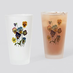 PARADE OF PANSIES Drinking Glass