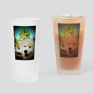 Chi Samoyed Drinking Glass