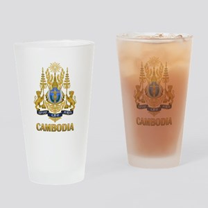 Cambodia Coat Of Arms Drinking Glass
