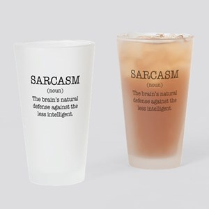 Sarcasm Noun Drinking Glass