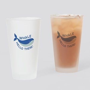 Whale Hello There! Drinking Glass