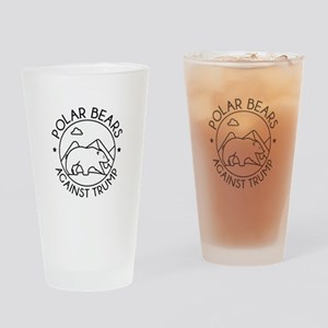 Polar Bears Against Trump Drinking Glass