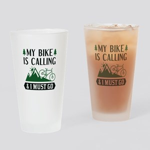My Bike Is Calling Drinking Glass